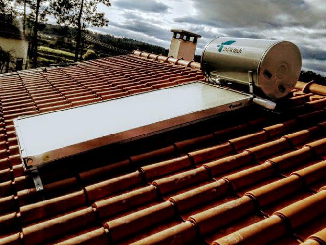 Instalação Solar Térmico - Termossifão