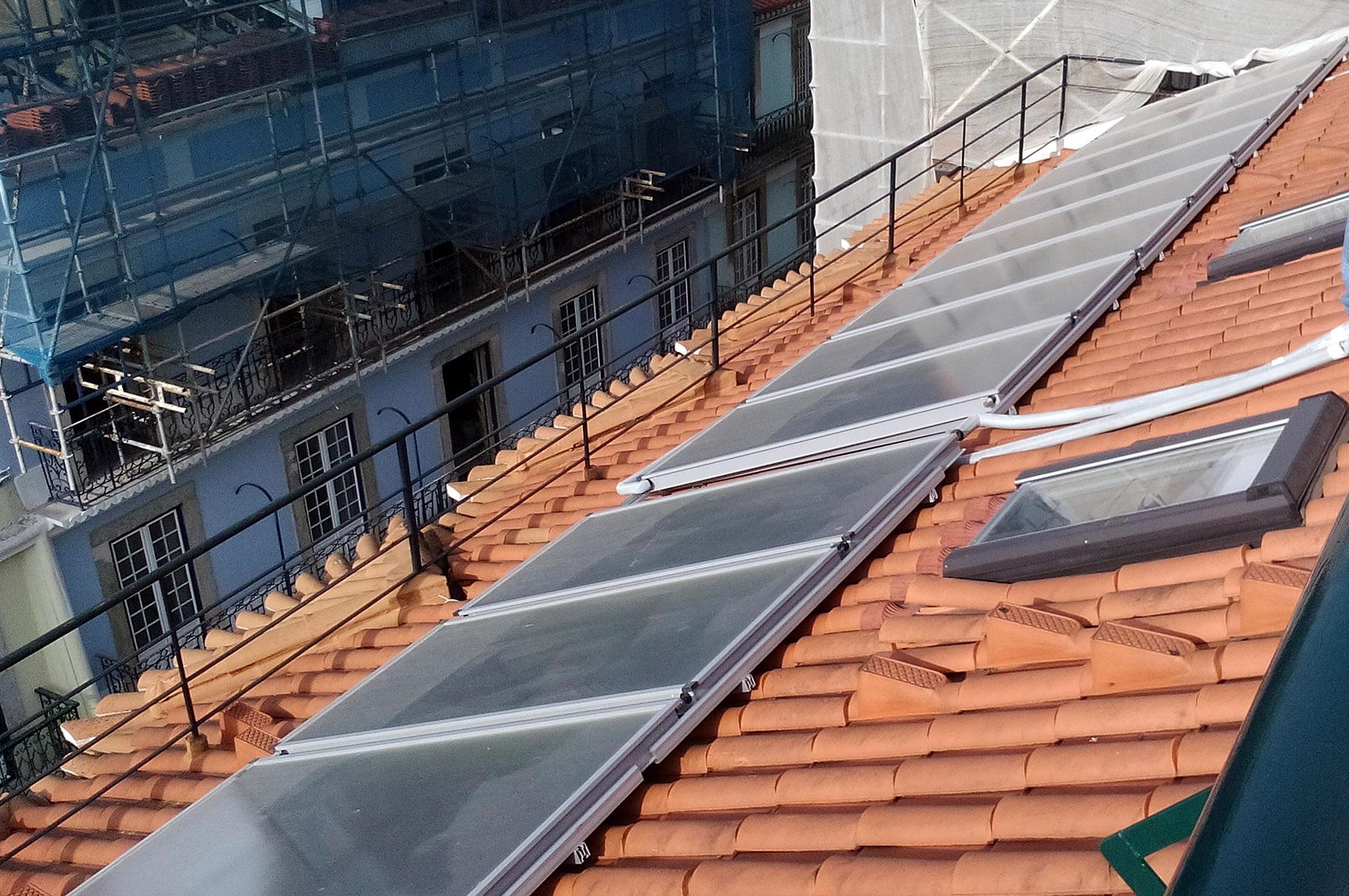 Instalação Solar Térmico em Hostel - Lisboa
